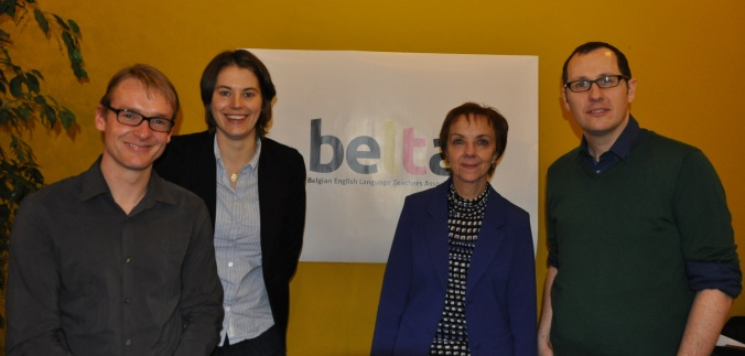 The first BELTA board, Jurgen, Ellen, Mieke and me.